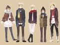 Denmark, Finland, Iceland, Norway and Sweden - hetalia photo