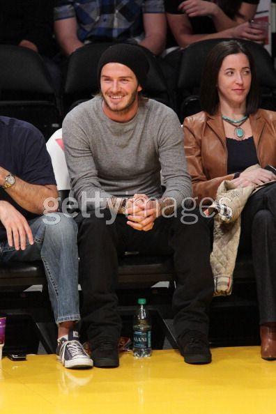 Detroit Pistons v Los Angeles Lakers 4 January 2011 David Beckham Photo
