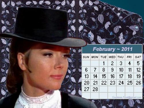 Diana - February 2011 (calendar) - diana-rigg Wallpaper