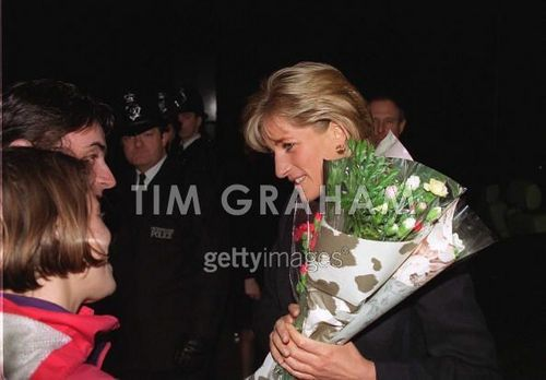 Diana On Visit To Homeless Project