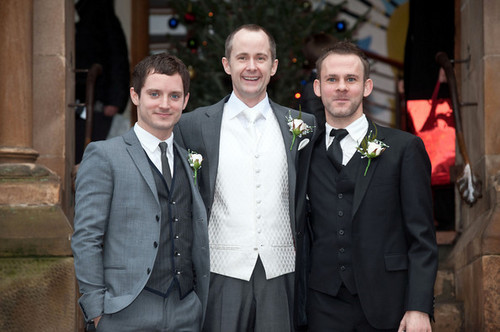 Dominic at Billy Boyd's wedding last December 29: