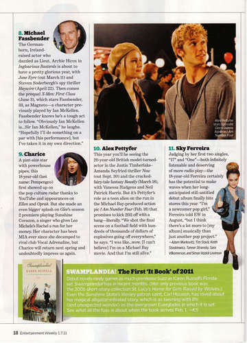 Entertainment Weekly: juu 10 Young Actors to Watch in 2011!