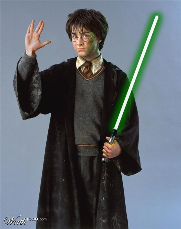 Harry Potter = star, sterne Wars