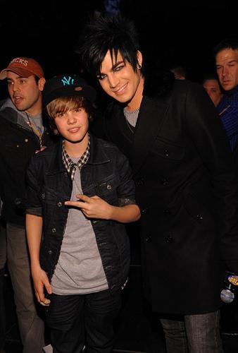Justin Bieber and Adam Lambert