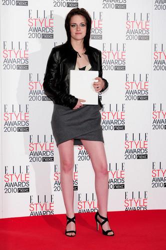 Kristen Stewart arrives at The ELLE Style Awards 2010