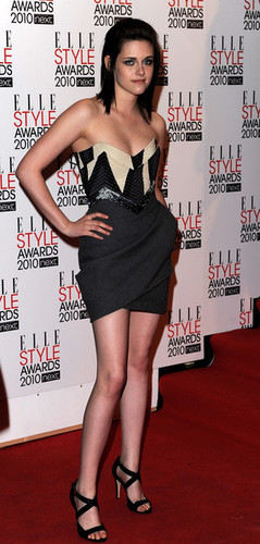 Kristen Stewart arrives at The ELLE Style Awards 2010
