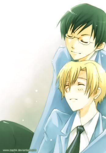 ouran high school host club wallpaper entitled Kyoya and Tamaki