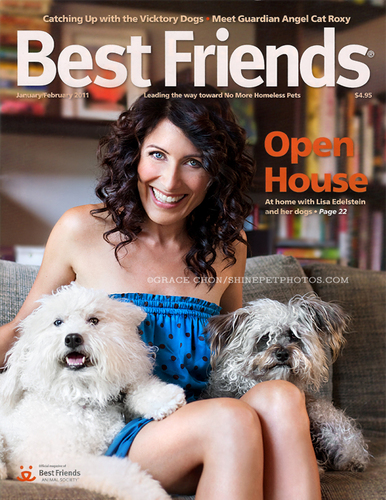 Lisa Edelstein January issue of Best Friends magazine