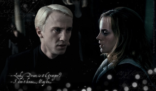 Dramione wallpaper probably containing a concert and a portrait entitled MalfoyManor