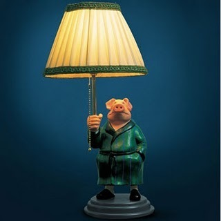 Michael Sowa Pig Lamp - amelie Fan Art
