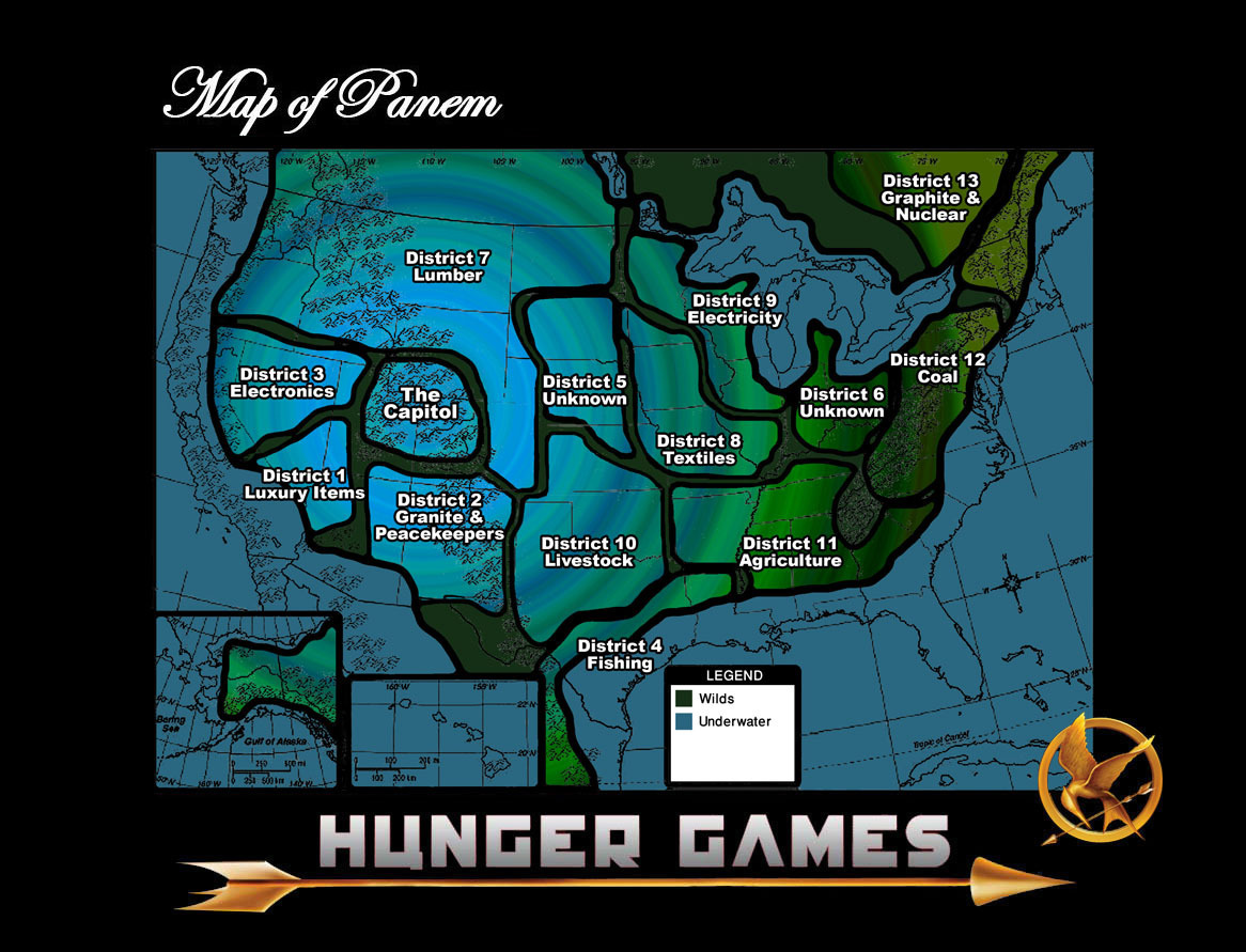 My Well Thought Out Map of Panem