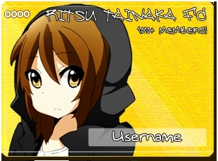 Tainaka Ritsu wallpaper containing animê called MyAnimeList Ritsu Tainaka FC Member Cards