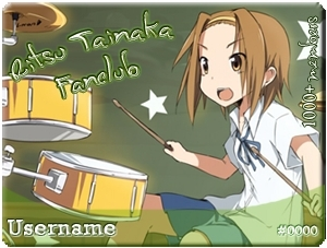 Tainaka Ritsu wallpaper containing anime called MyAnimeList Ritsu Tainaka FC Member Cards