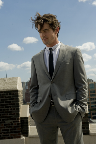 White Collar wallpaper with a business suit, a suit, and a single breasted suit entitled Neal Caffrey
