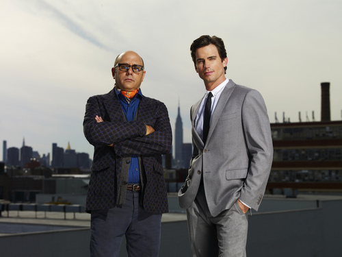 White Collar wallpaper with a business suit, a suit, and a three piece suit called Neal & Mozzie