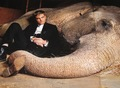 New Pic of Rob Pattinson Snuggling with Rosie the Elephant - twilight-series photo