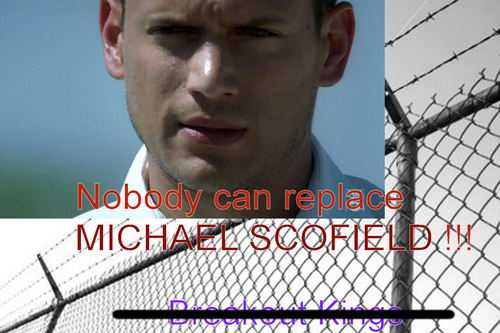 Prison Break Cast karatasi la kupamba ukuta with a chainlink fence called Nobody can replace MICHAEL SCOFIELD !!! Get Lost Breakout Kings