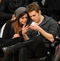 Paul & Torrey @ LA Laker's Game - paul-wesley photo