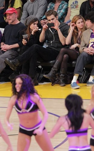 Paul and Torrey at the Lakers game (January 2)