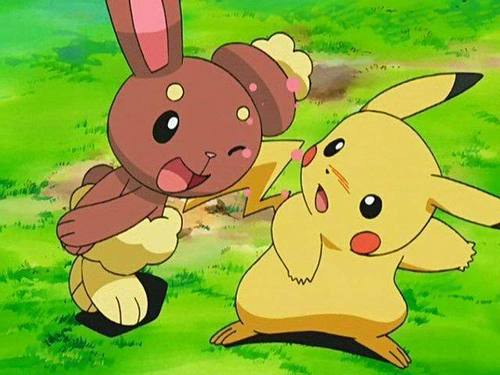Pikachu and Buneary
