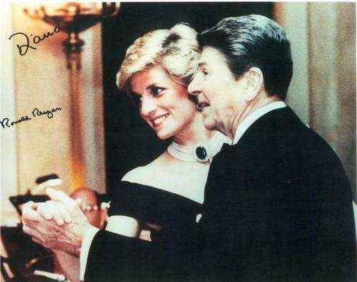 Prinzessin Diana and Ronald_Reagan
