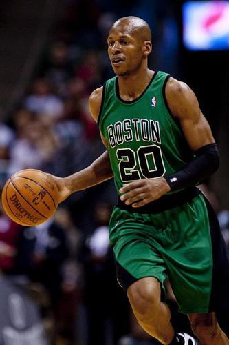 Boston Celtics Hintergrund with a dribbler titled strahl, ray Allen