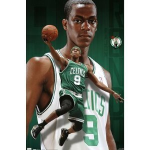 Rajon Rondo Hintergrund with a dribbler, a basketball, and a basketball player titled Rondo