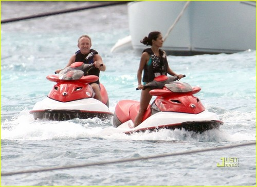 Salma Hayek: Jet-Skiing with Francois Pinault!