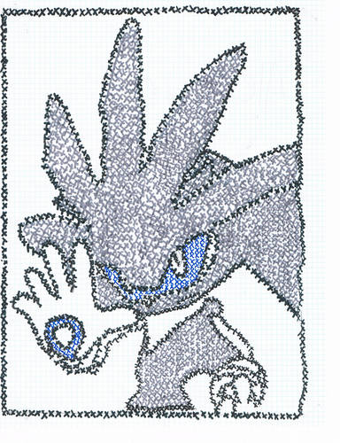 Silver the Hedgehog karatasi la kupamba ukuta titled Silver the Hedgehog