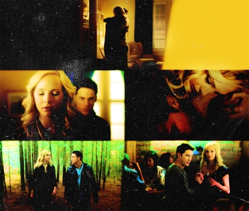 top, boven 10 COUPLES WE GOT INTO 2010#4 tyler and caroline - the vampire diaries