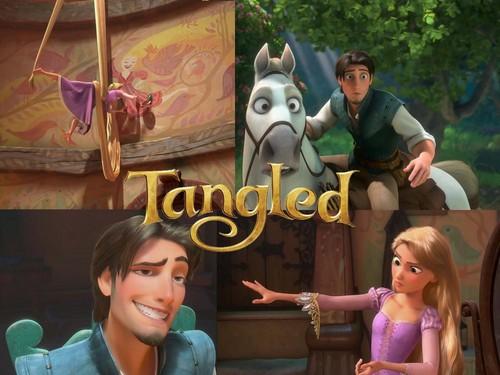 Rapunzel And Flynn Wallpaper Titled Tangled