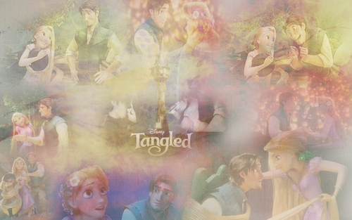 Tangled kertas dinding called Tangled