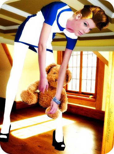Taylor mwepesi, teleka I Alice In Wonderland.