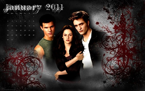 The Twilight Saga 2011 Desktop hình nền Calendars