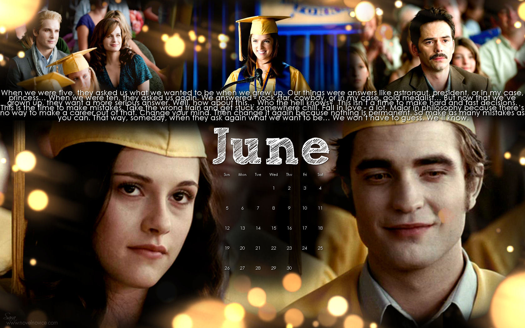 The Twilight Saga 2011 Desktop Wallpaper Calendars - twilight-series wallpaper