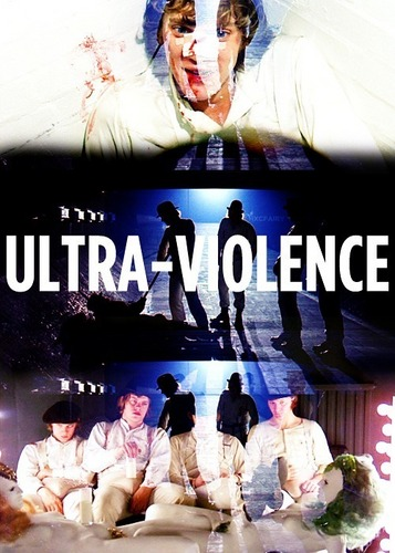 A Clockwork Orange wallpaper probably containing a sign called Ultra-Violence