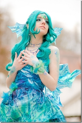 Watery cosplay