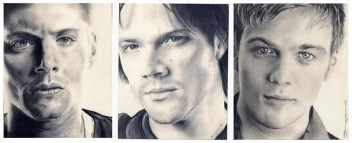 Winchester Girls Обои probably with a portrait titled Winchester Boys<3
