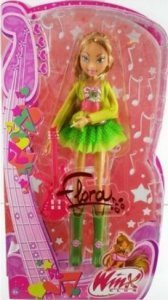 Winx dolls karatasi la kupamba ukuta probably containing a hard Candy entitled Winx Club Flora doll in tamasha