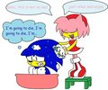 amy washing sonic LOL - sonic-and-amy photo