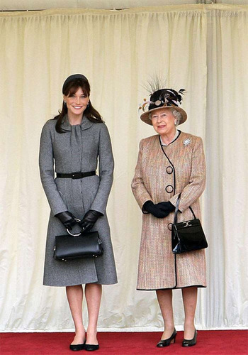 carla and Queen Elizabeth II