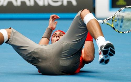defenseless Rafael Nadal