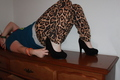 hot topic leopard pants and torrid heels
