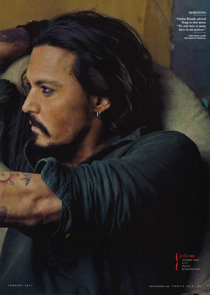 johnny depp 2011 images. johnny depp- UK Vanity Fair