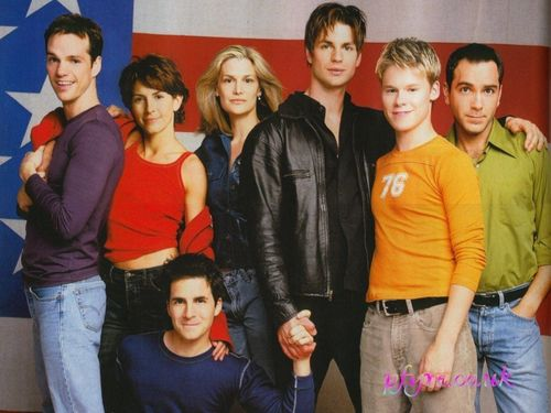 Queer As Folk 壁纸 possibly with a well dressed person, long trousers, and a leisure wear called qaf