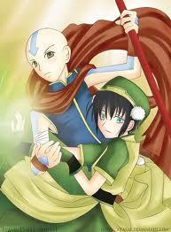 Aang is Toph's knight in shining armor