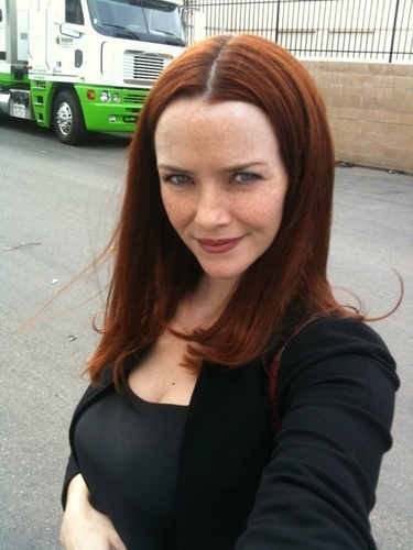 24 wallpaper probably containing a carriageway, a street, and a portrait entitled Annie wersching