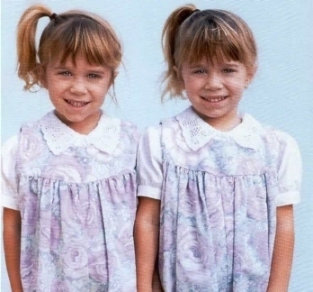 Mary-Kate & Ashley Olsen wallpaper possibly with a nightwear, a frock, and a nightgown called Ashley Fuller and Mary-Kate Olsen