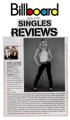 Avril in Billboard Magazine!