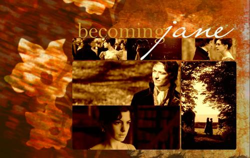 Becoming Jane - Rustic flor - wallpaper